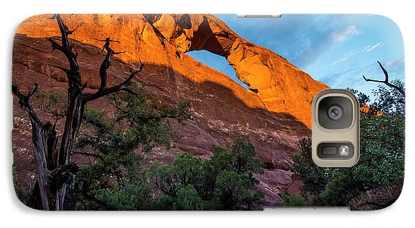 Galaxy Case featuring the photograph Skyline Arch At Sunset - Arches National Park - Utah by Gary Whitton