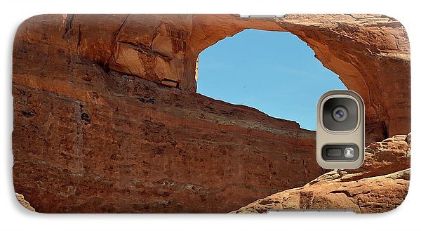 Galaxy Case featuring the photograph Skyline Arch In Utah by Bruce Gourley