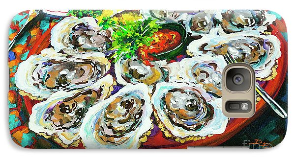 Galaxy Case featuring the painting Slap Dem Oysters  by Dianne Parks