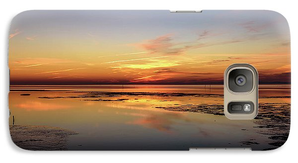 Galaxy Case featuring the photograph Touching The Golden Cloud by Thierry Bouriat