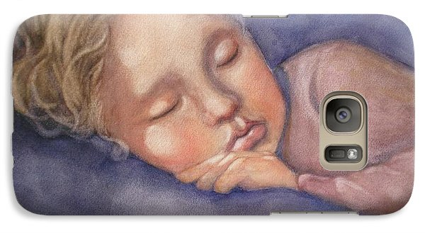 Galaxy Case featuring the painting Sleeping Beauty by Marilyn Jacobson