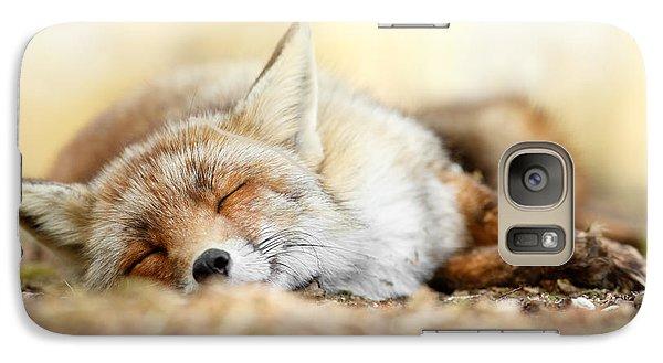 Sleeping Beauty -red Fox In Rest Galaxy Case by Roeselien Raimond