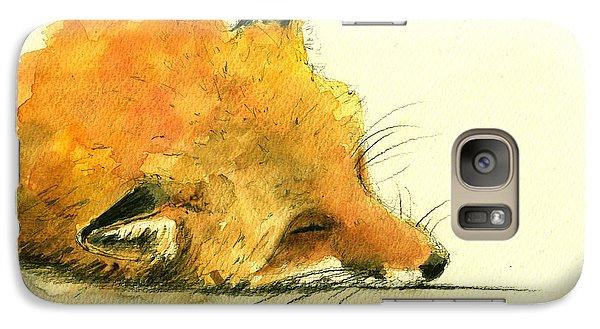 Sleeping Fox Galaxy S7 Case by Juan  Bosco