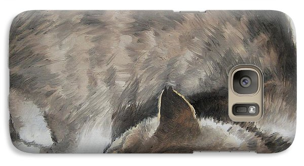 Galaxy Case featuring the painting Sleeping Kitty by Jindra Noewi
