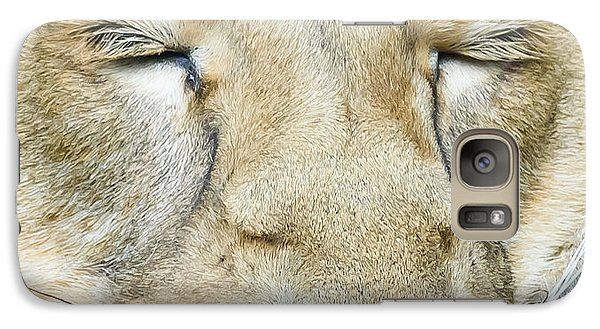 Galaxy Case featuring the photograph Sleeping Lion by Colin Rayner