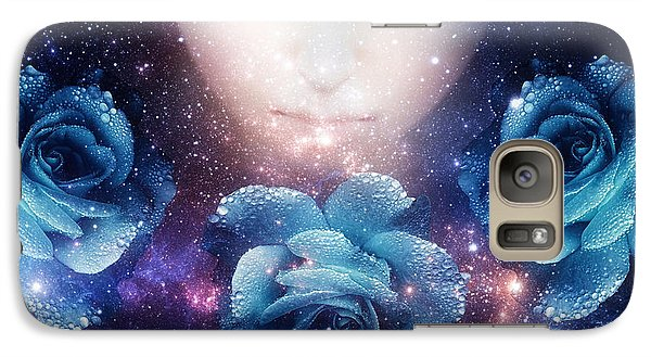 Galaxy Case featuring the digital art Sleeping Rose by Mo T