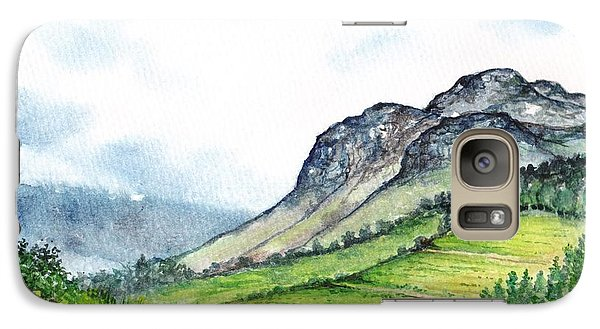 Galaxy Case featuring the painting Sleeping Valley by Heidi Kriel