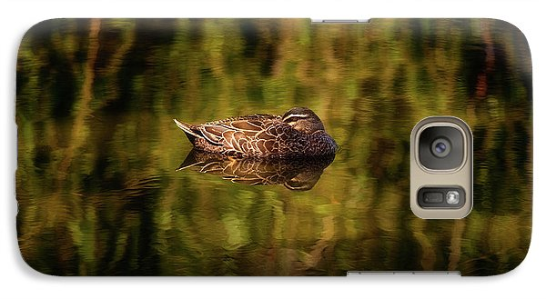 Galaxy Case featuring the photograph Sleepy Duck, Yanchep National Park by Dave Catley