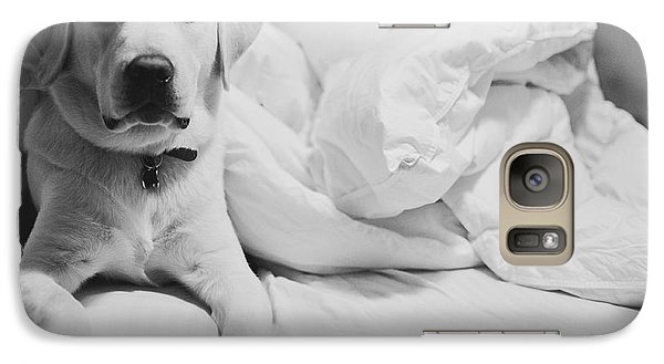 Galaxy Case featuring the photograph Sleepy Labrador by Louise Fahy