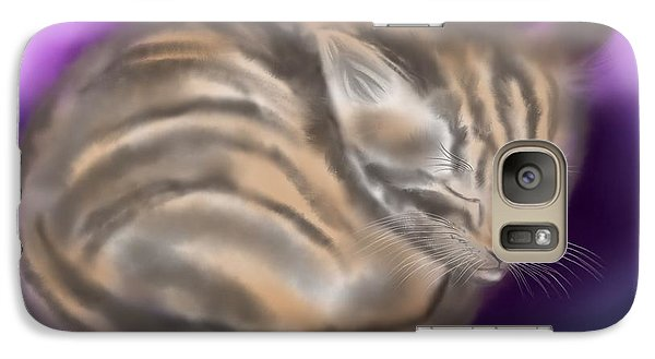 Galaxy Case featuring the painting Sleepy Sam by Nick Gustafson