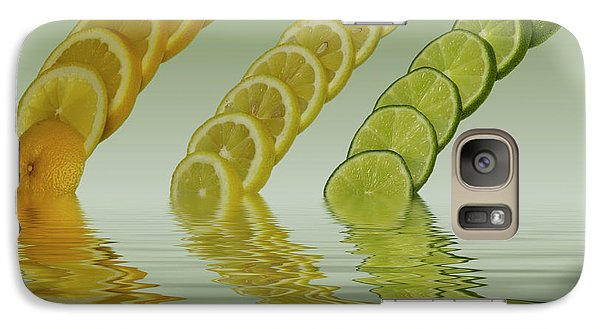 Galaxy Case featuring the photograph Slices  Grapefruit Lemon Lime Citrus Fruit by David French