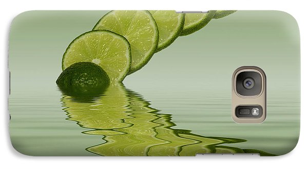 Galaxy Case featuring the photograph Slices Lime Citrus Fruit by David French