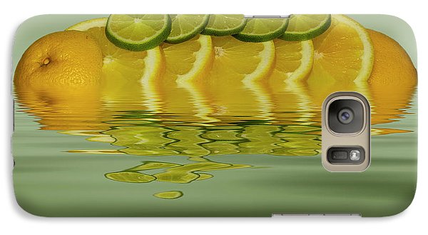 Galaxy Case featuring the photograph Slices Orange Lime Citrus Fruit by David French