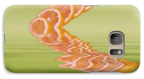 Galaxy Case featuring the photograph Slices Pink Grapefruit Citrus Fruit by David French