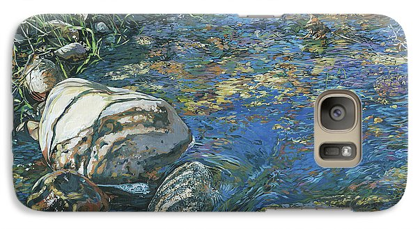 Galaxy Case featuring the painting Slicky Pool by Nadi Spencer