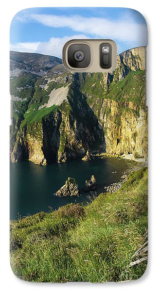 Galaxy Case featuring the photograph Slieve League Cliffs Eastern End by RicardMN Photography