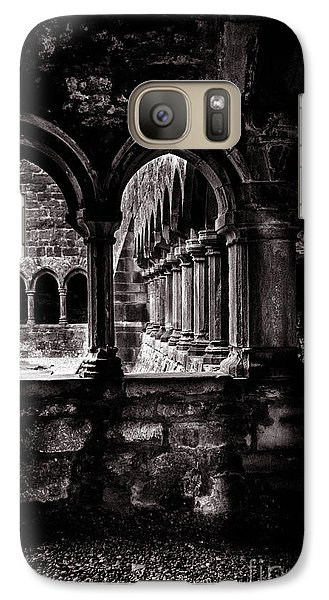 Galaxy Case featuring the photograph Sligo Abbey Interior Bw by RicardMN Photography
