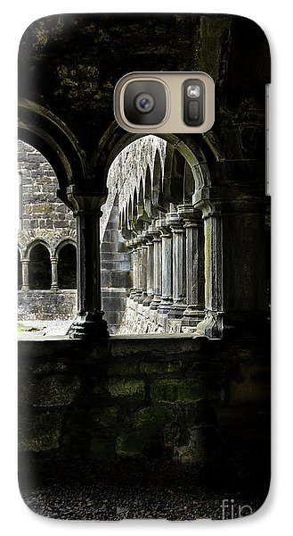 Galaxy Case featuring the photograph Sligo Abbey Interior by RicardMN Photography