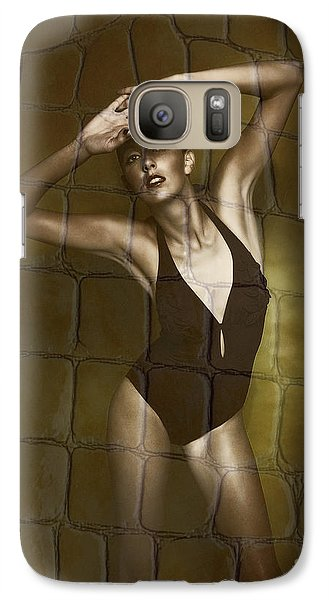 Galaxy Case featuring the photograph Slim Girl In Bathing Suit by Michael Edwards