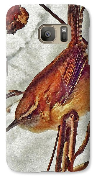 Slim Pickens, Carolina Wren Galaxy S7 Case by Ken Everett