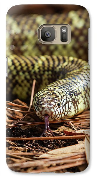 Galaxy Case featuring the photograph Slither Snake by Arthur Dodd