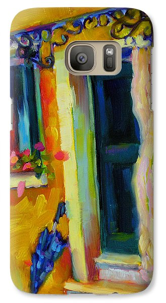 Galaxy Case featuring the painting Sliver Of Sunshine by Chris Brandley