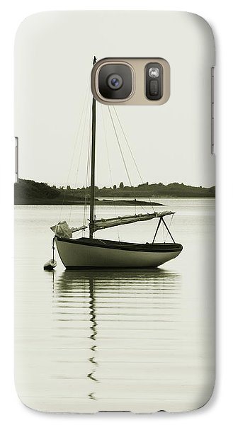 Galaxy Case featuring the photograph Sloop At Rest  by Roupen  Baker