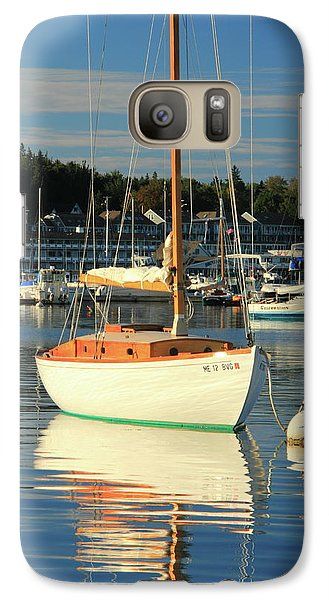 Galaxy Case featuring the photograph Sloop Reflections by Roupen  Baker
