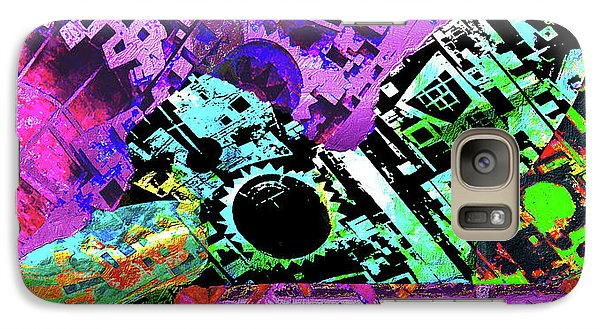 Galaxy Case featuring the mixed media Slouch by Tony Rubino