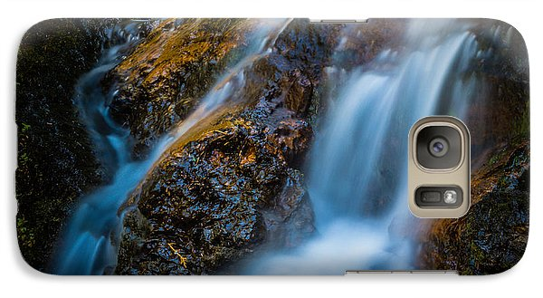 Galaxy Case featuring the photograph Small Mountain Stream Falls by Chris McKenna