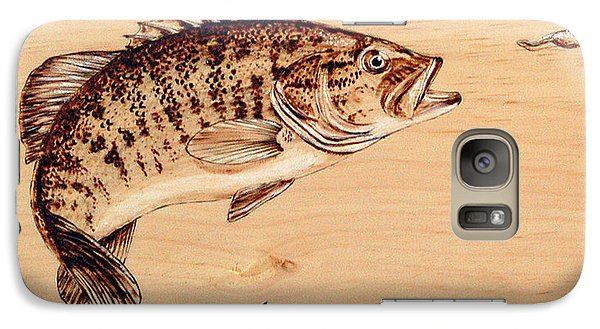 Galaxy Case featuring the pyrography Small Mouth Bass by Ron Haist