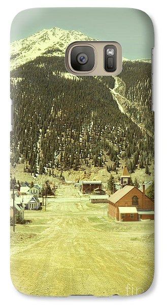 Galaxy Case featuring the photograph Small Rocky Mountain Town by Jill Battaglia