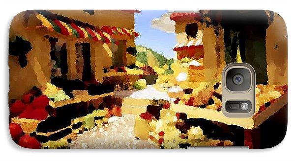 Galaxy Case featuring the digital art small urban market on Capri island by Dr Loifer Vladimir