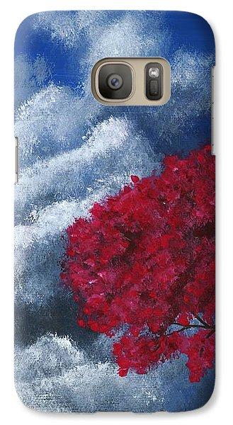 Galaxy Case featuring the painting Small World by Anastasiya Malakhova