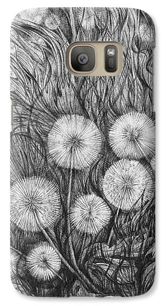 Galaxy Case featuring the drawing Small World by Anna  Duyunova