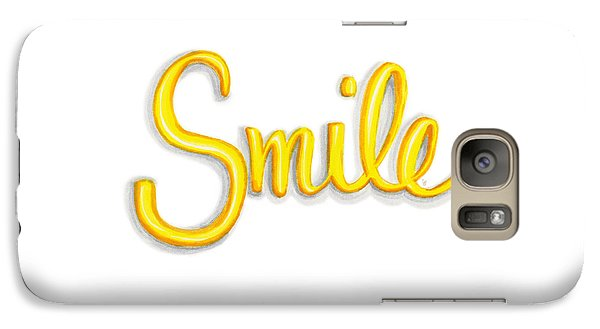 Galaxy Case featuring the drawing Smile by Cindy Garber Iverson