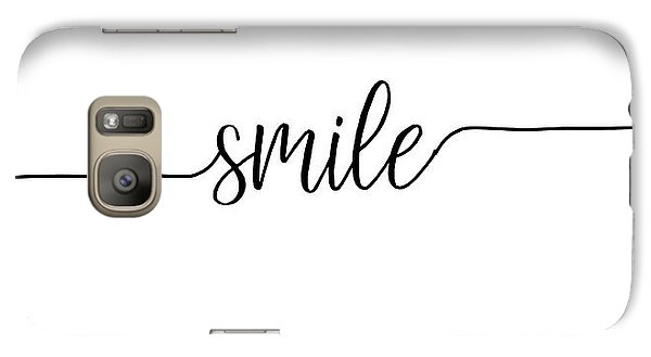 Galaxy Case featuring the digital art Smile by Jaime Friedman