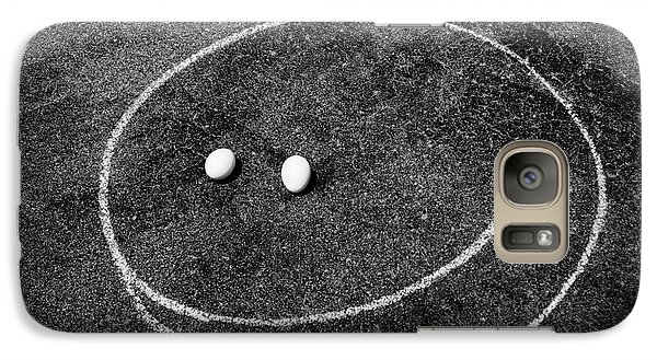 Galaxy Case featuring the photograph Smiley - Chalk N Eggs by Aimelle