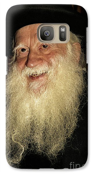 Galaxy Case featuring the photograph Smiling Picture Of Rabbi Yehuda Zev Segal by Doc Braham
