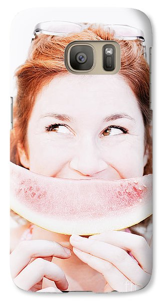 Smiling Summer Snack Galaxy S7 Case by Jorgo Photography - Wall Art Gallery
