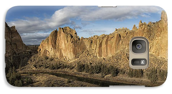 Smith Rock And Crooked River Panorama Galaxy S7 Case