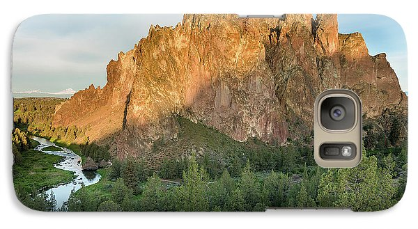 Galaxy Case featuring the photograph Smith Rock First Light by Greg Nyquist