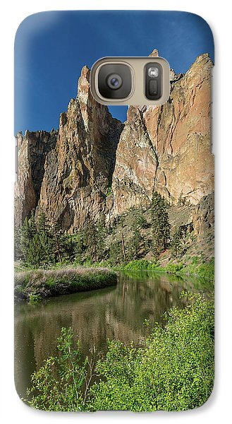 Galaxy Case featuring the photograph Smith Rock Spires by Greg Nyquist