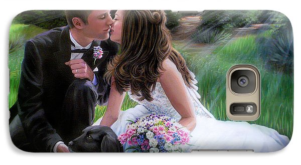 Galaxy Case featuring the painting Smith Wedding Portrait by Jane Girardot