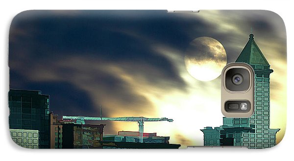 Galaxy Case featuring the photograph Smithtower Moon by Dale Stillman