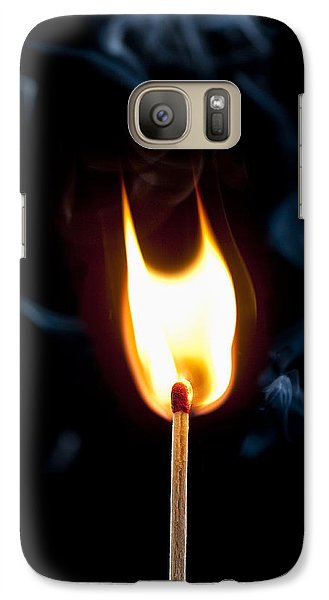 Galaxy Case featuring the photograph Smoke And Fire by Tyson and Kathy Smith