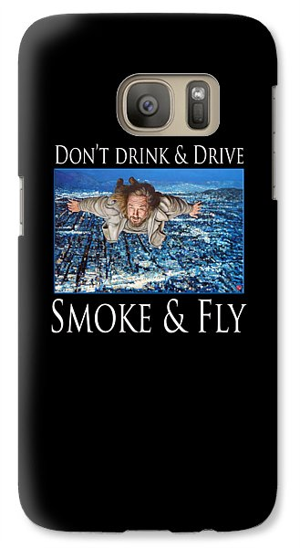 Galaxy Case featuring the painting Smoke And Fly by Tom Roderick