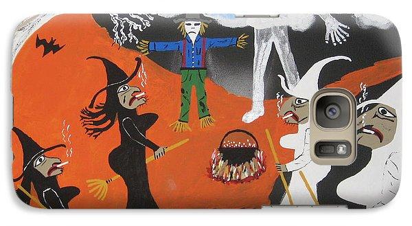 Galaxy Case featuring the painting Smokey Halloween by Jeffrey Koss