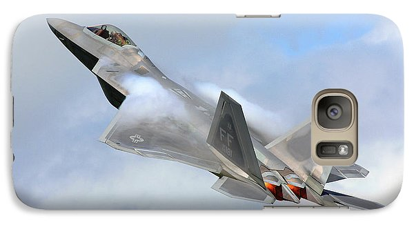 Galaxy Case featuring the digital art Smokin - F22 Raptor On The Go by Pat Speirs