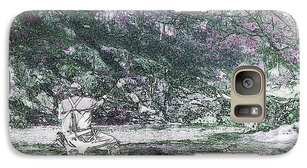 Galaxy Case featuring the photograph Smoky Mountain Fisherman by Mike Eingle